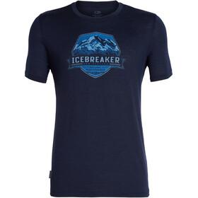 Icebreaker Tech Lite Cook Crest Bluzka z krótkim rękawem Mężczyźni niebieski